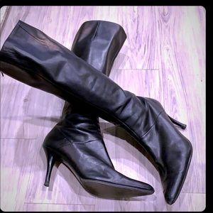 Nine West High Heel Leather Boots